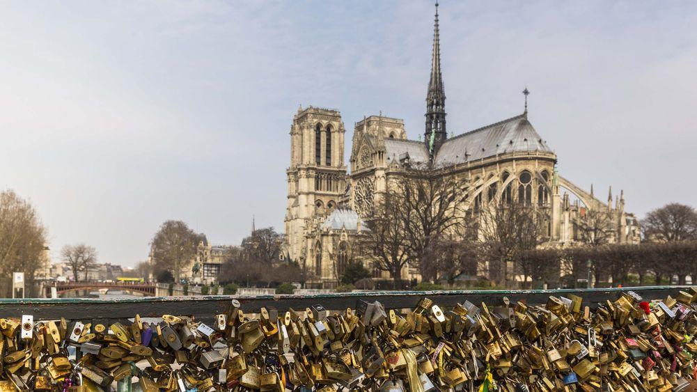 Love Locks Across Notre Dame