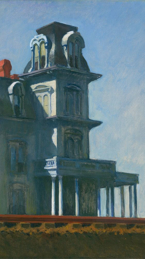 The House by the Railroad (detail)