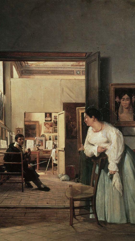 The Studio of Ingres in Rome