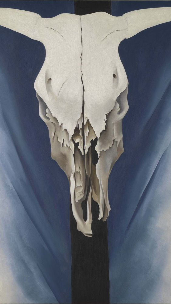 Cow's Skull: Red, White, and Blue (detail)