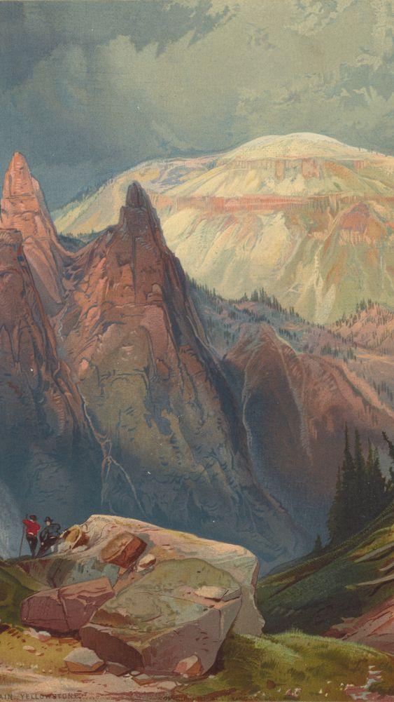 """Tower Falls and Sulphur Mountain"" by Thomas Moran"