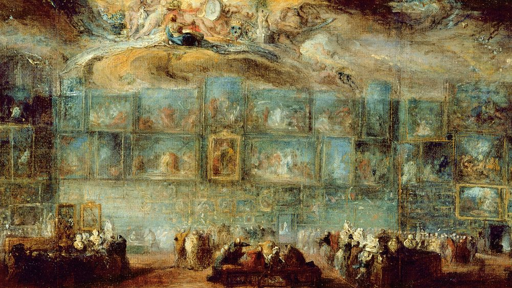 View of the Salon at the Louvre
