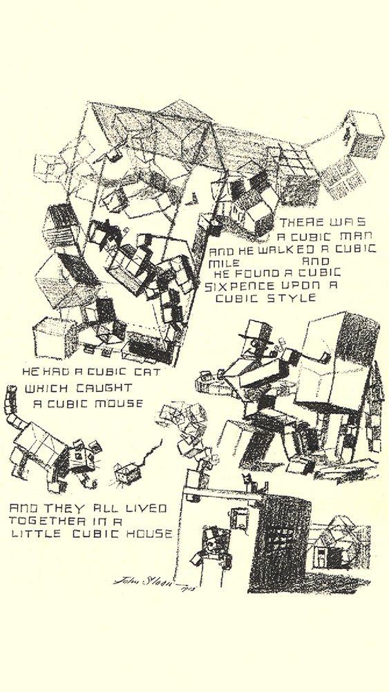 "John Sloan's ""Cubism"" Cartoon"