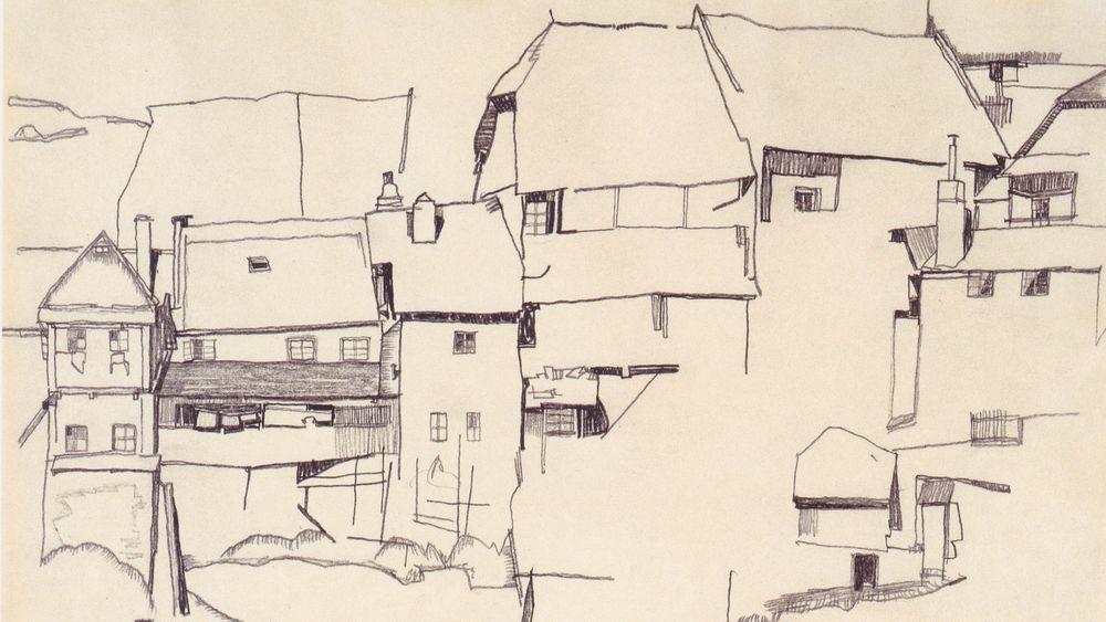 Old Houses in Krumau (study)