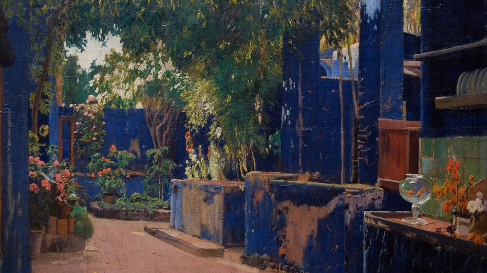 Blue Courtyard