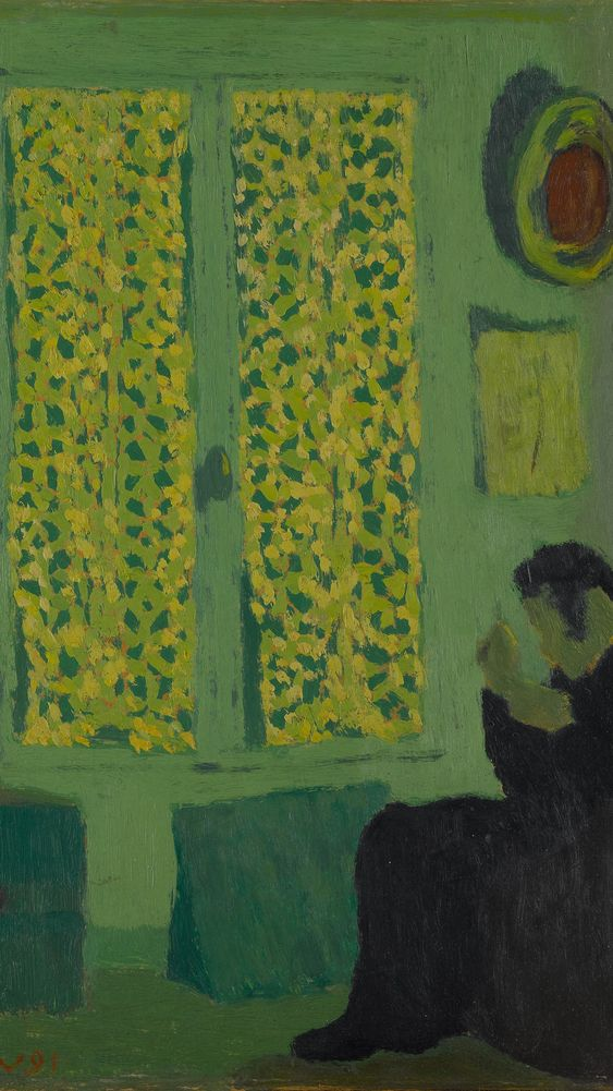 The Green Interior or Figure in front of a Window