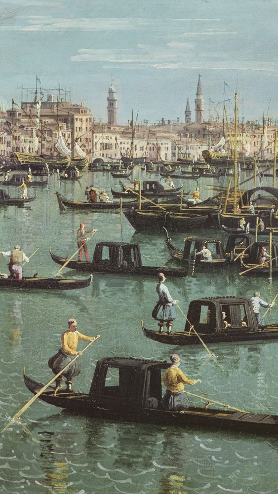 Gondoliers near the Entrance to the Grand Canal