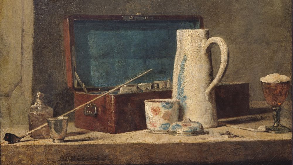 Still Life of Pipes and a Drinking Glass