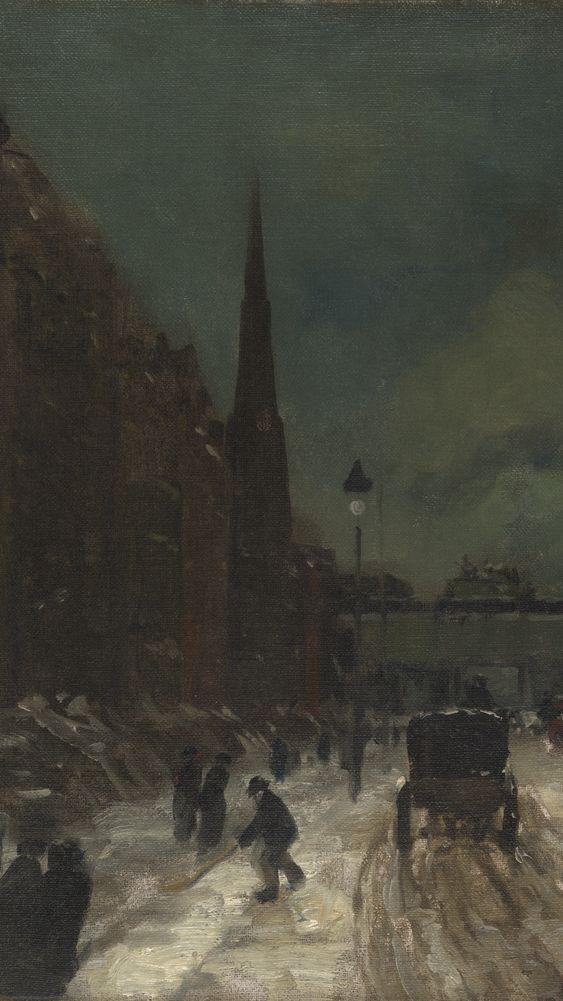 Snow Scene (detail)