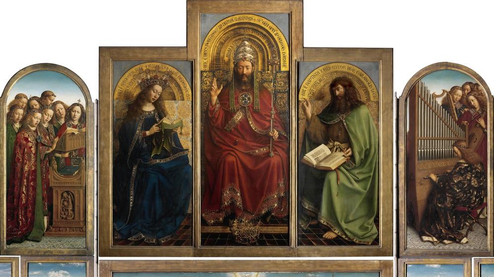 Ghent Altarpiece (detail, top)