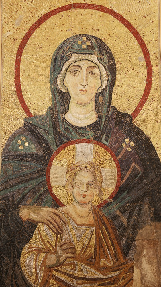 Mother of God and Child (detail)