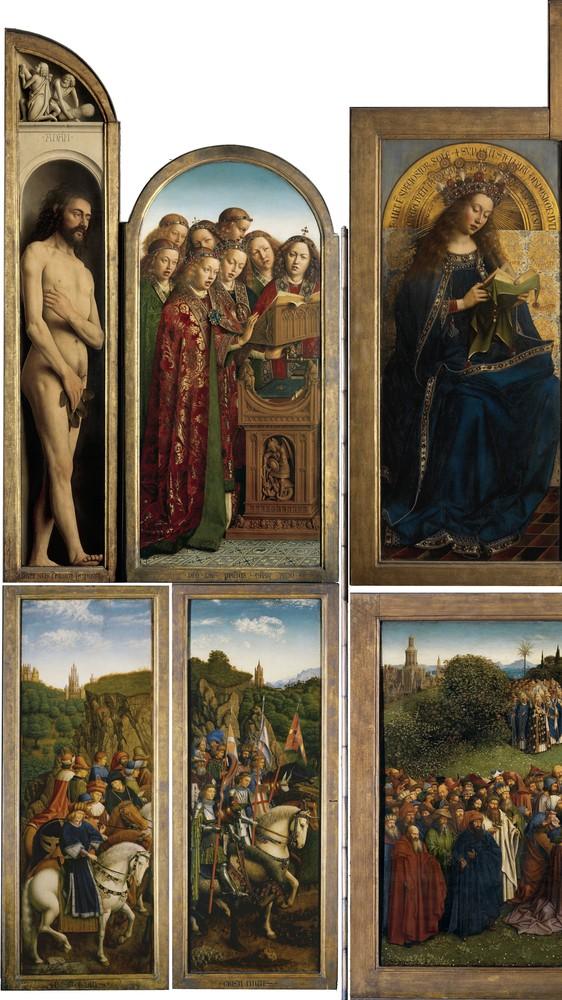 Ghent Altarpiece (detail, left)