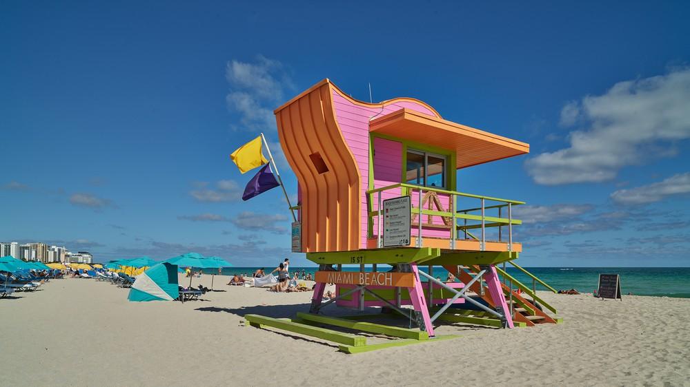 Florida Miami Beach Lifeguard stand