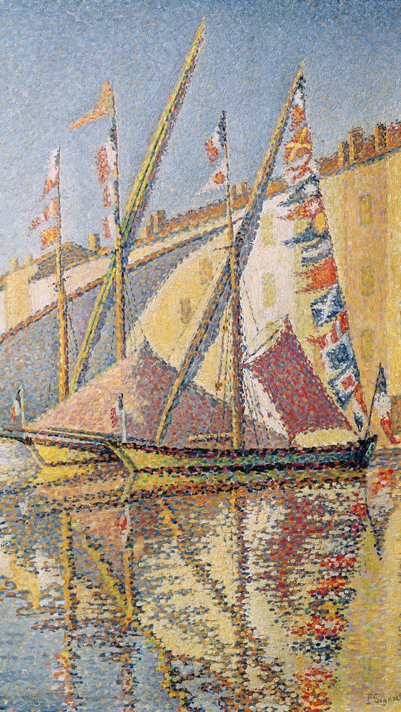 Sailing Boats in St. Tropez Harbour