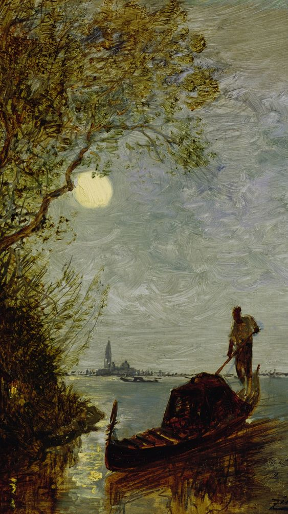 Moonlit Scene with Gondola
