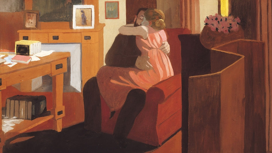 Intimacy, Couple in an Interior with a Partition