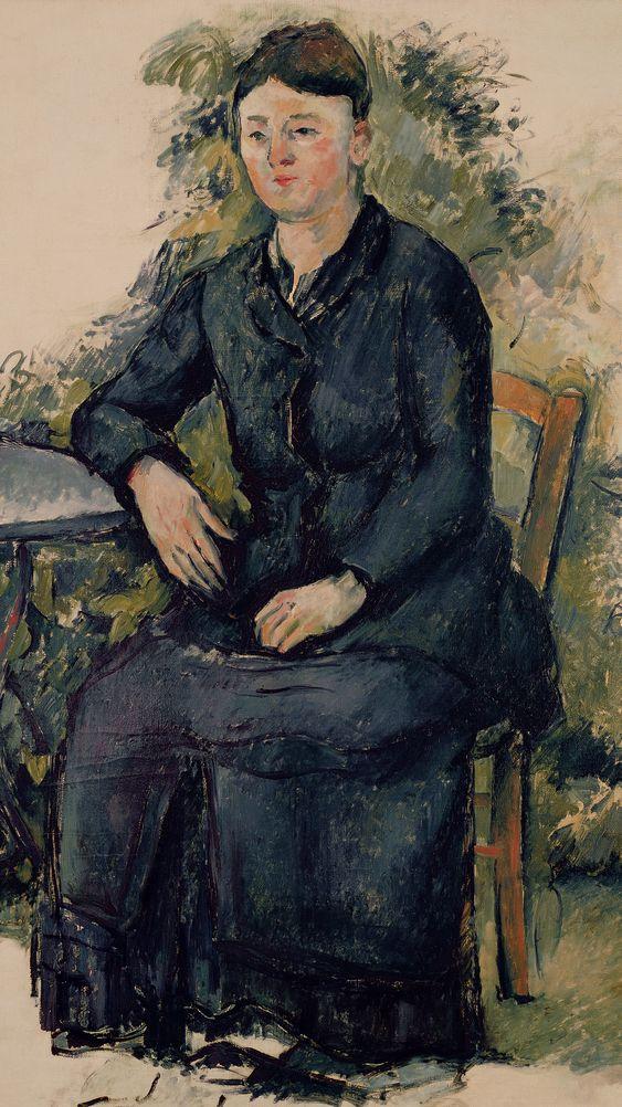 Madame Cezanne in the Garden
