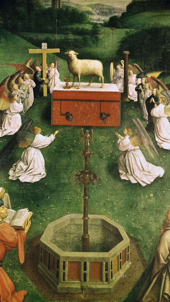 The Adoration of the Mystic Lamb, from the Ghent Altarpiece
