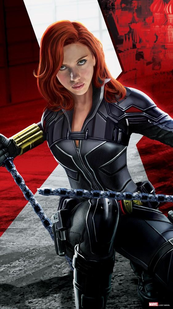 Black Widow with Batons
