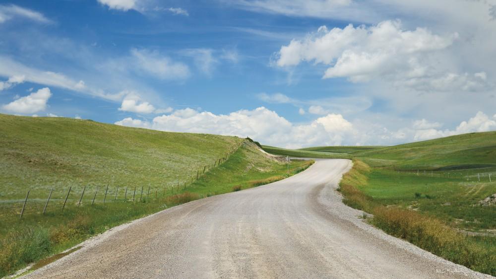 Gravel Road Near Choteau Montana I