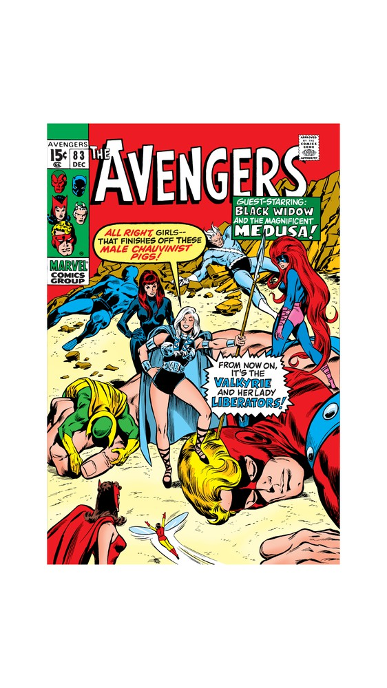 Cover Art: Black Widow with Group