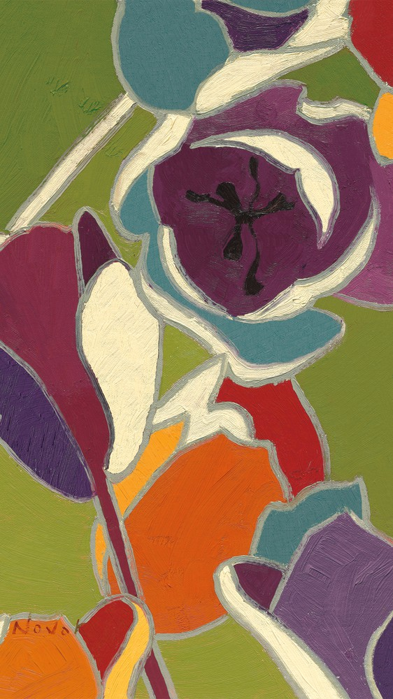 Orange Cloisonne Tulipe I