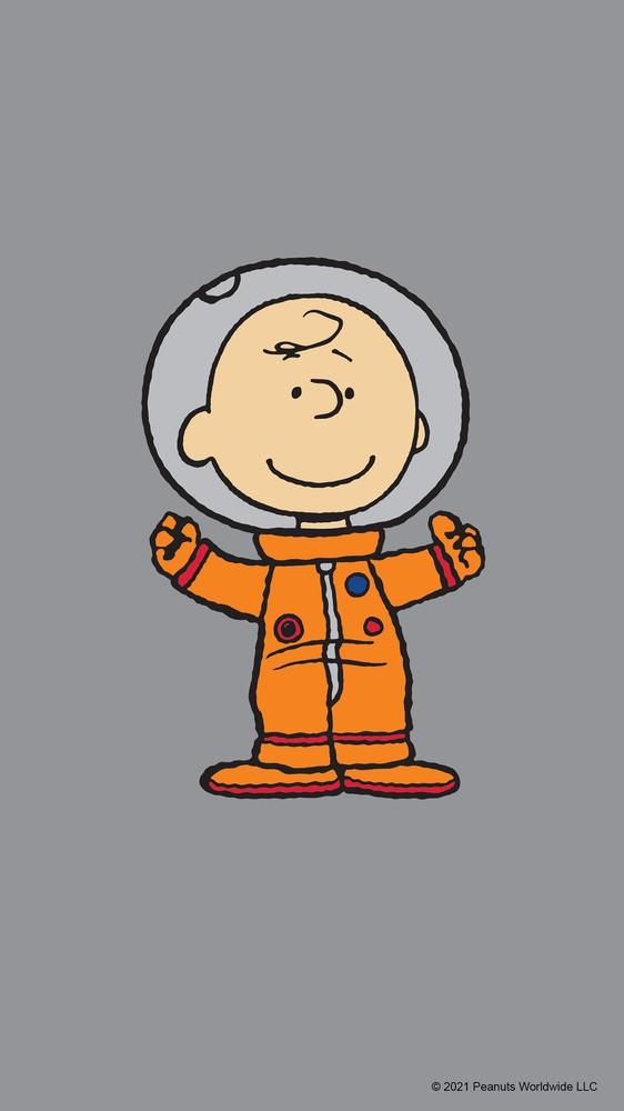 Charlie Brown in Space Suit