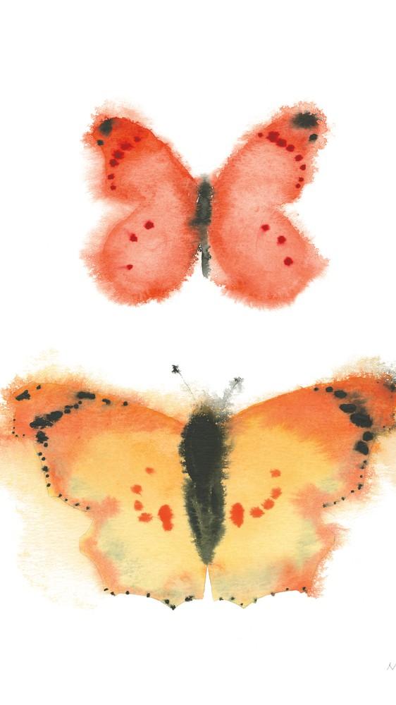 Watercolor Butterflies IV
