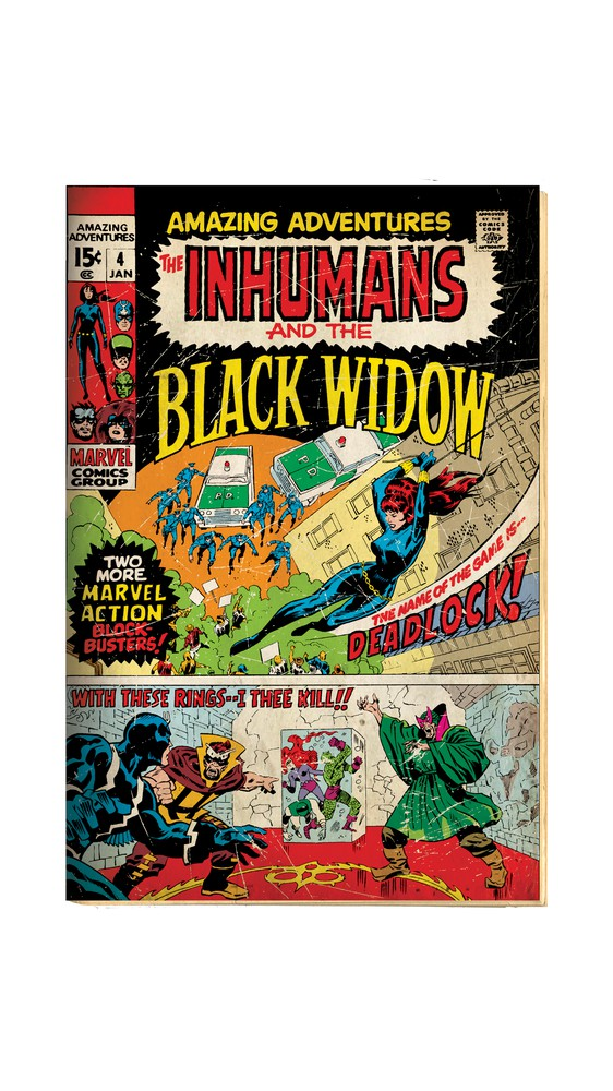 Cover Art: Black Widow in Action