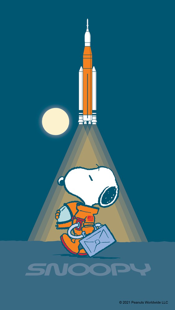 Snoopy at Rocket Launch