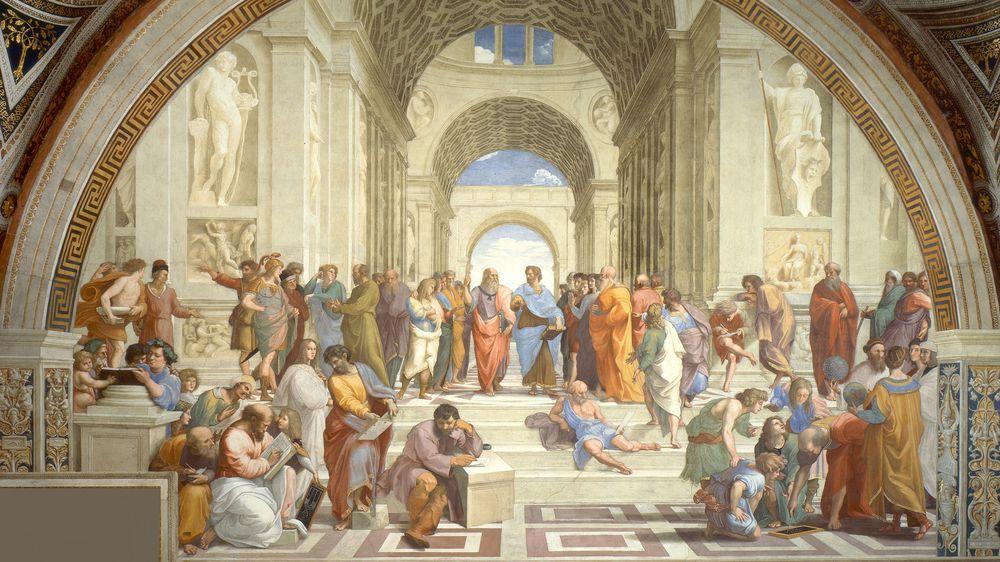 School of Athens, from the Stanza della Segnatura