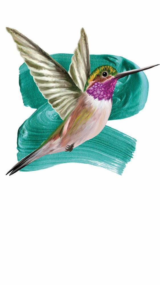 Modern Hummingbird I