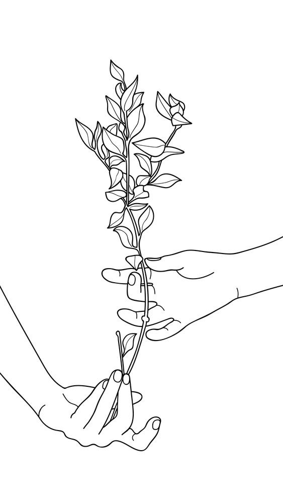 Flowered Hand