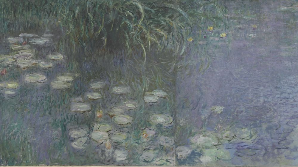Water Lilies: Morning (left section)