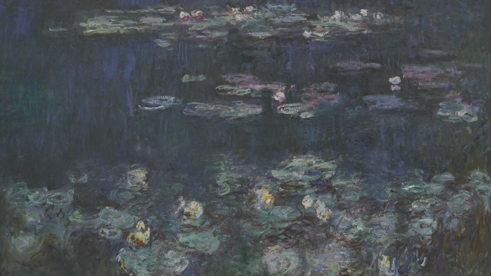 Water Lilies: Green Reflections (right section)