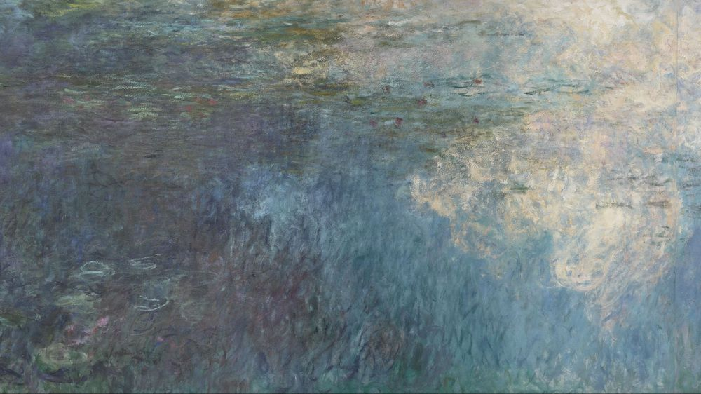 Water Lilies: The Clouds (left section)