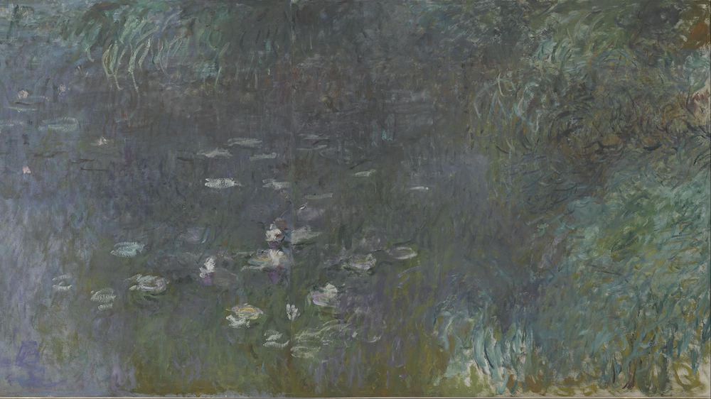 Water Lilies: Morning (right section)