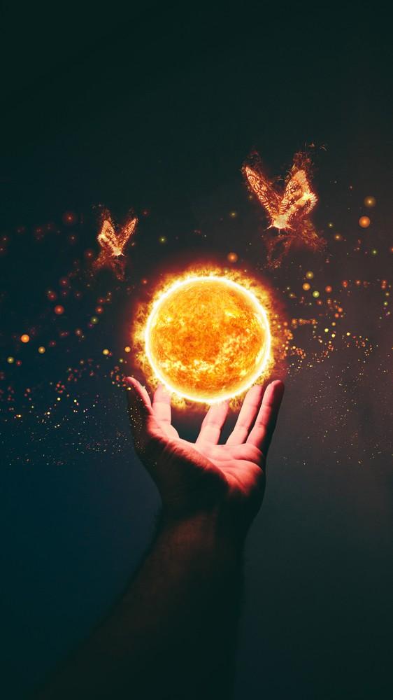 Sun Above Hand