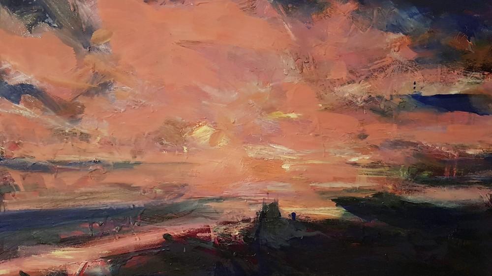 Sunset over Beachy Head