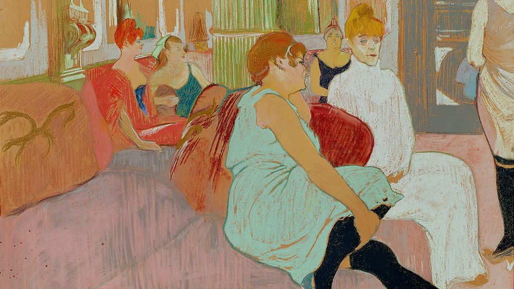 In the Salon at the Rue des Moulins