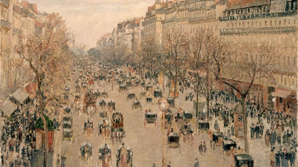 Boulevard Montmartre in Paris