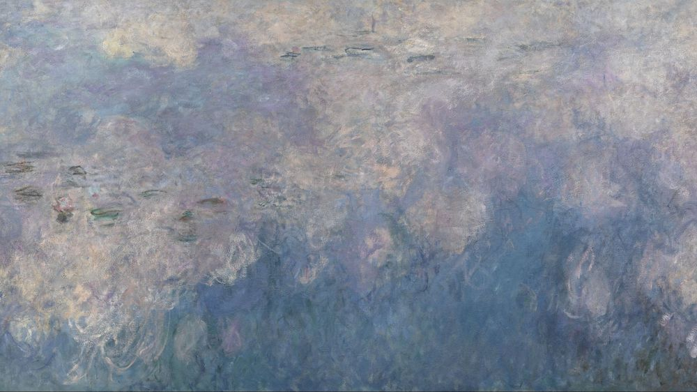 Water Lilies: The Clouds (central section)