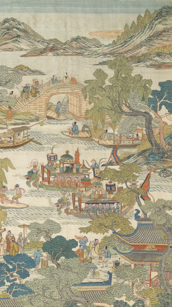 Dragon-boat festival performance (right panel)