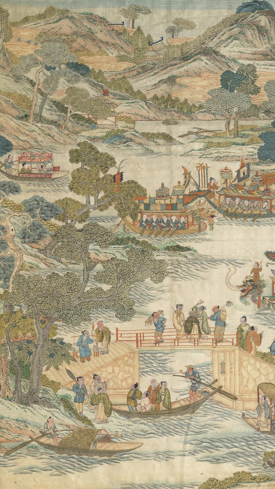 Dragon-boat festival performance (left panel)