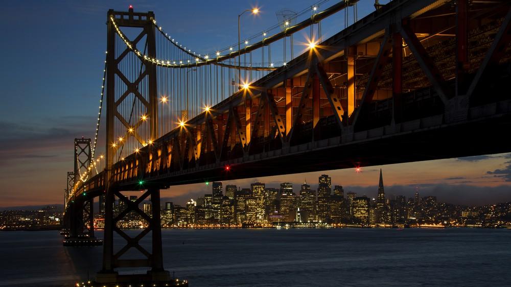 San Francisco Bay Bridge Sunset