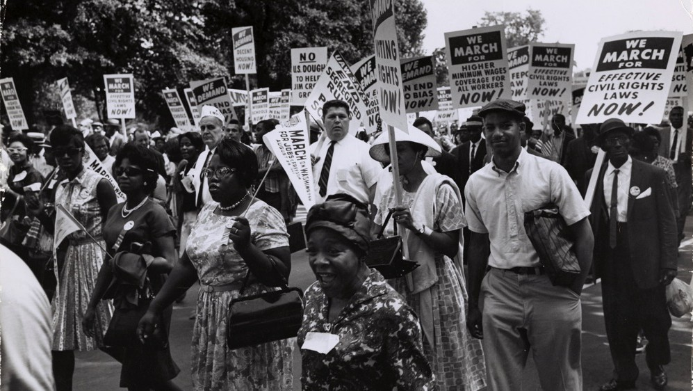 Civil Rights Marchers with Signs