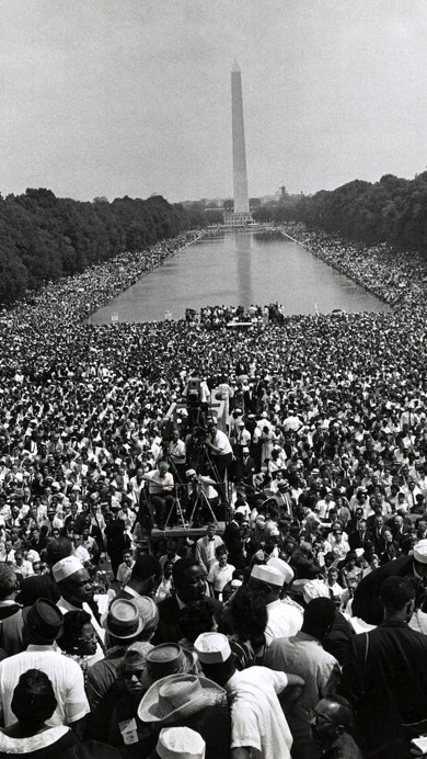 Civil Rights March Surrounding the Reflecting Pool