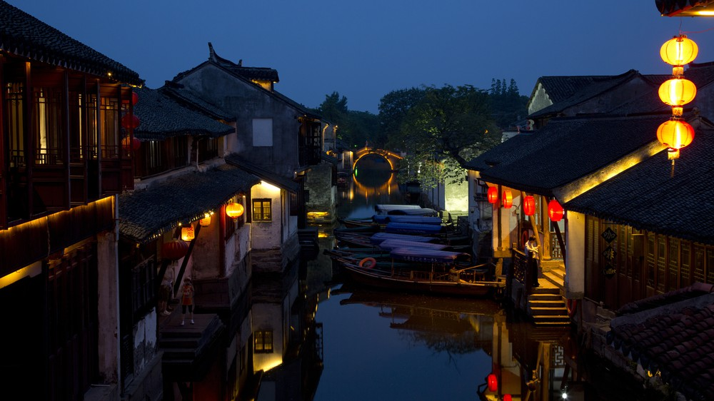 Chinese Water Town Lights