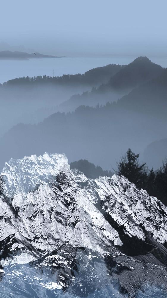 Foggy Blue Mountains