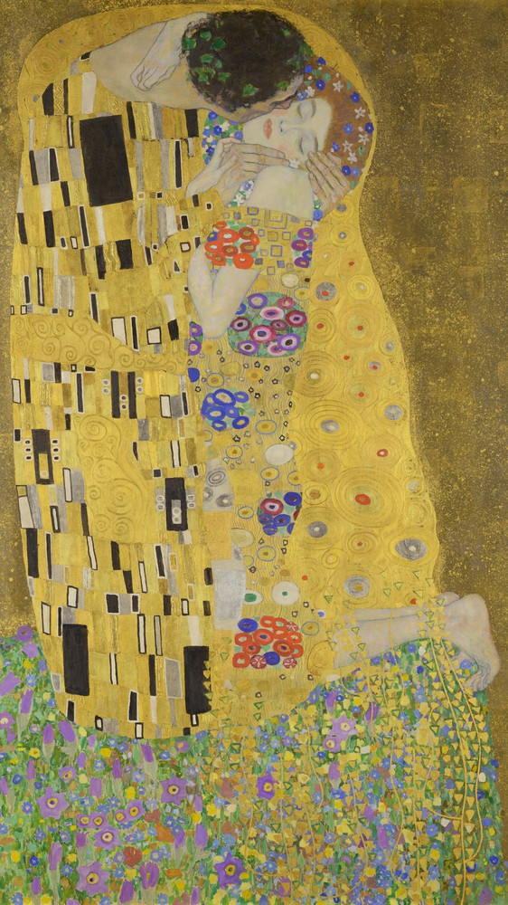 "Gustav Klimt's ""The Kiss"""